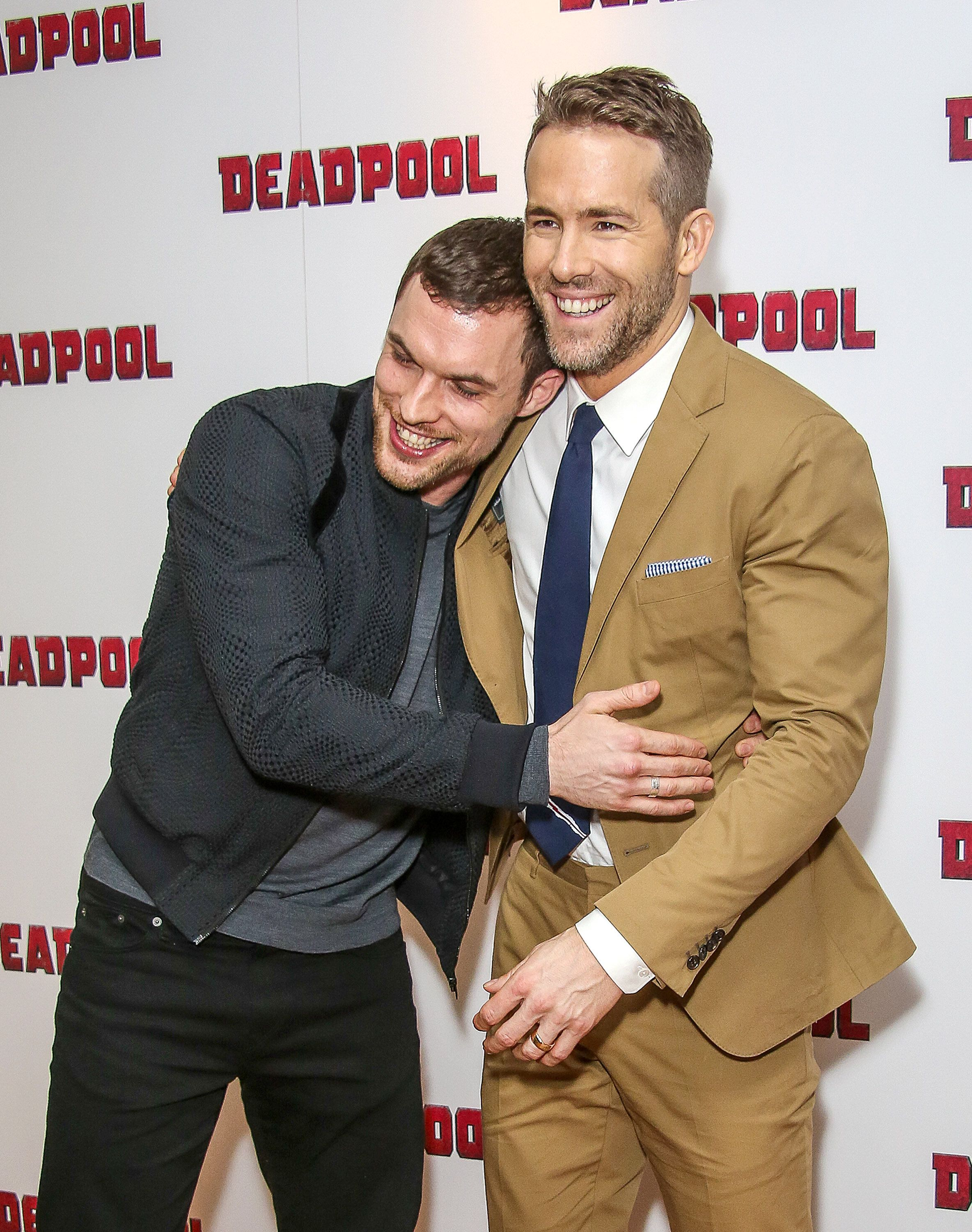 Ed Skrein and Ryan Reynolds attend a fan screening of 'Deadpool' at The Soho Hotel on January 28, 2016 in London, England. (P