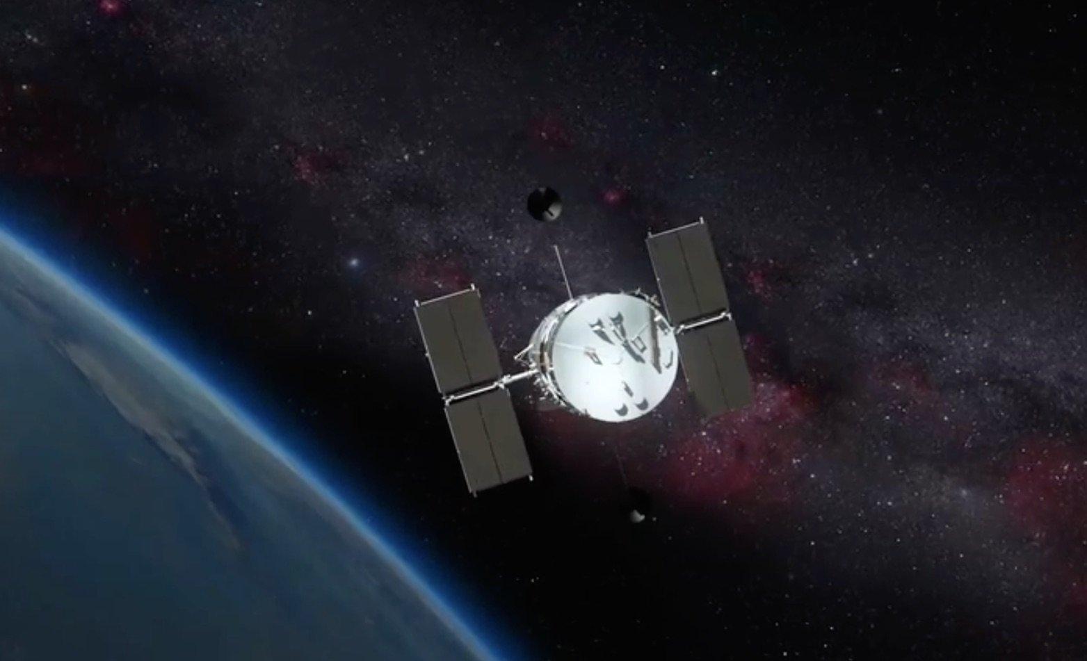 Artist rendition of North Korea's satellite.