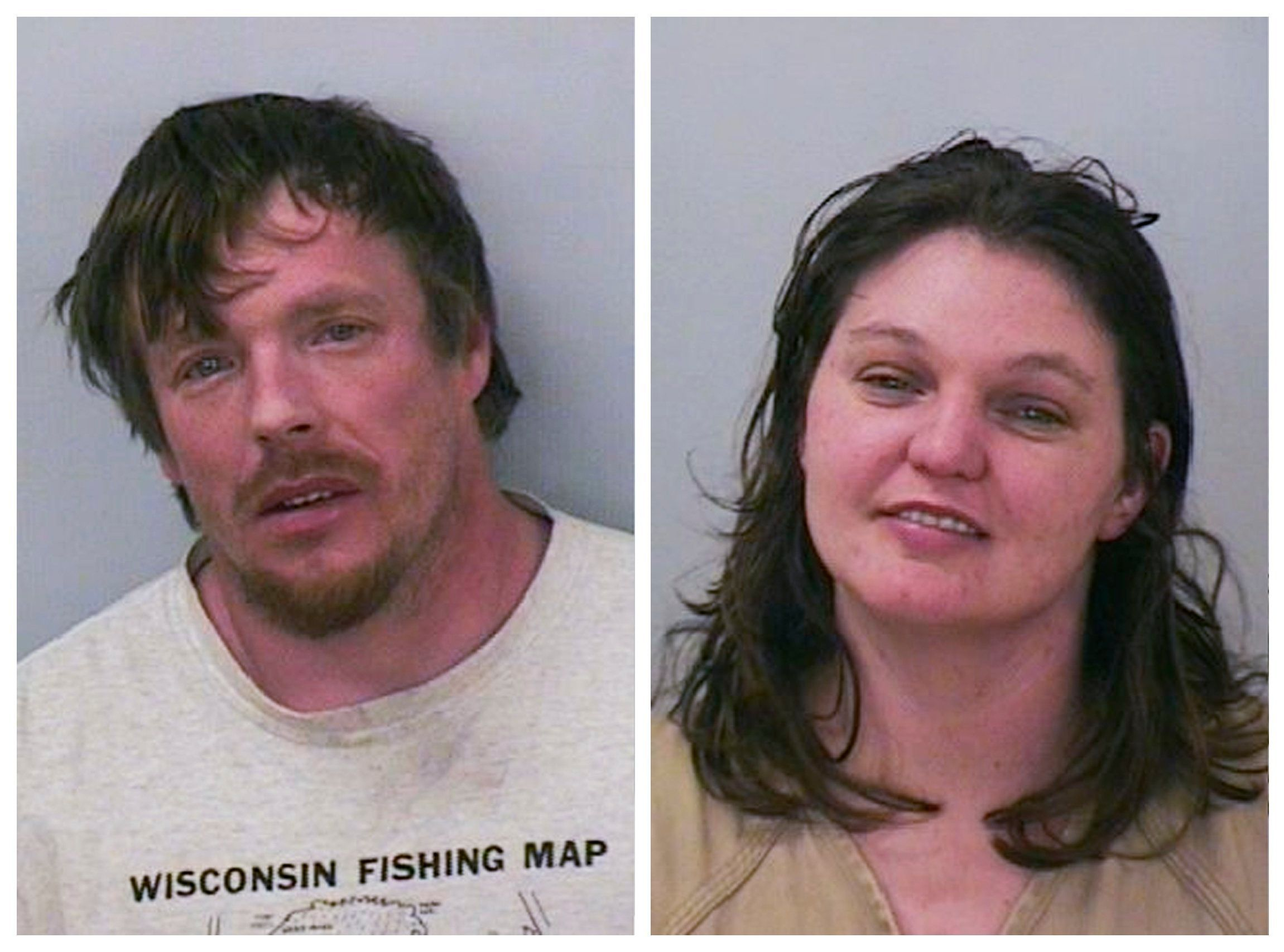 A combination photo shows Jason Robert Roth (L) and Amanda Rose Eggert in these January 31, 2016 booking photos in Polk County, Wisconsin Sheriff's Department, released on February 8, 2016. REUTERS/Polk County Sheriff's Department/Handout via Reuters