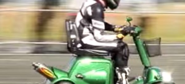 WATCH: You Probably Couldn't Handle This Mobility Scooter's Top Speed
