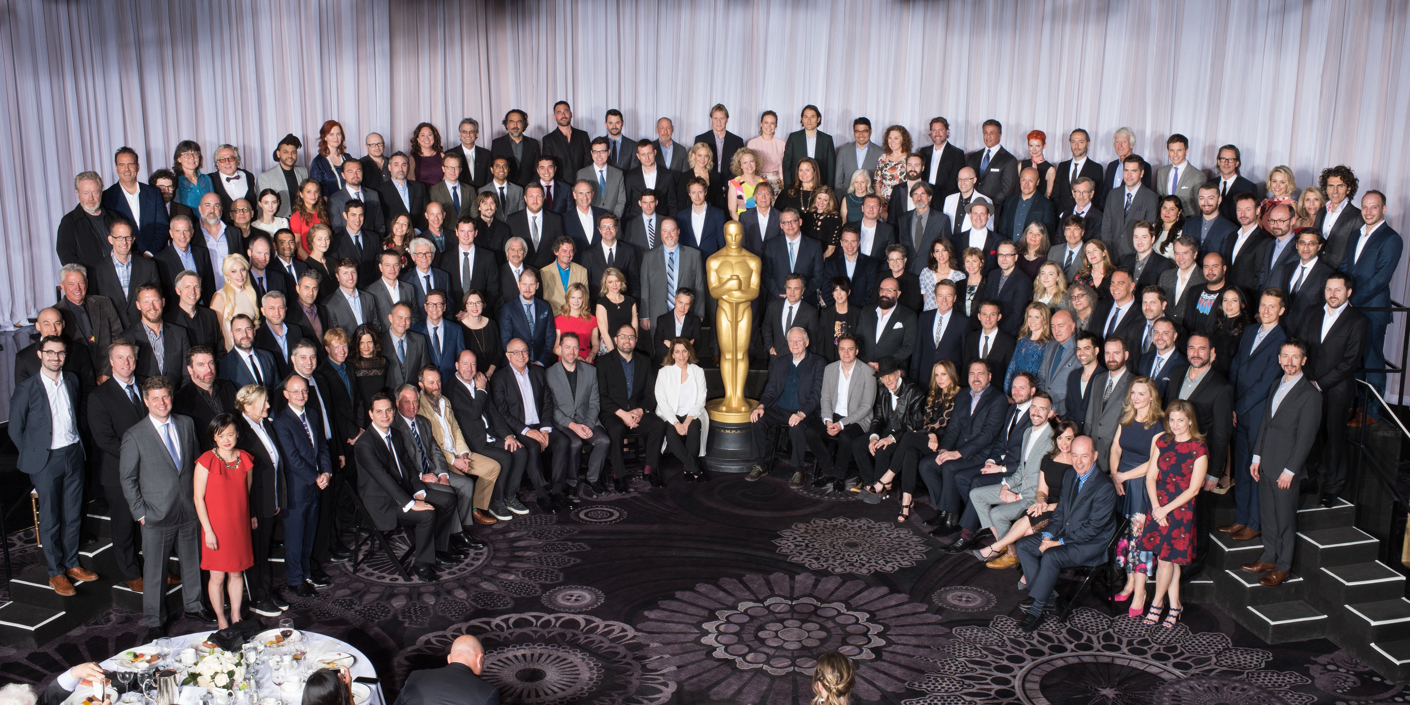 Nominees for the 88th Oscarsvat the Nominees Luncheon at the Beverly Hilton, Monday, February 8, 2016. The 88th Oscars, hoste