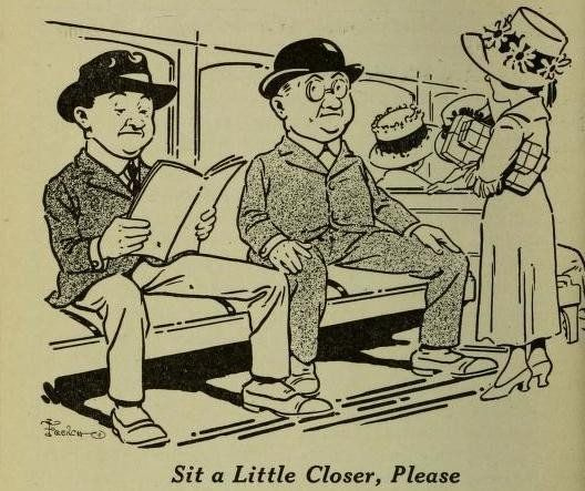 A 1918 cartoon from The Elevated Times, 20th century Chicago-based publication.