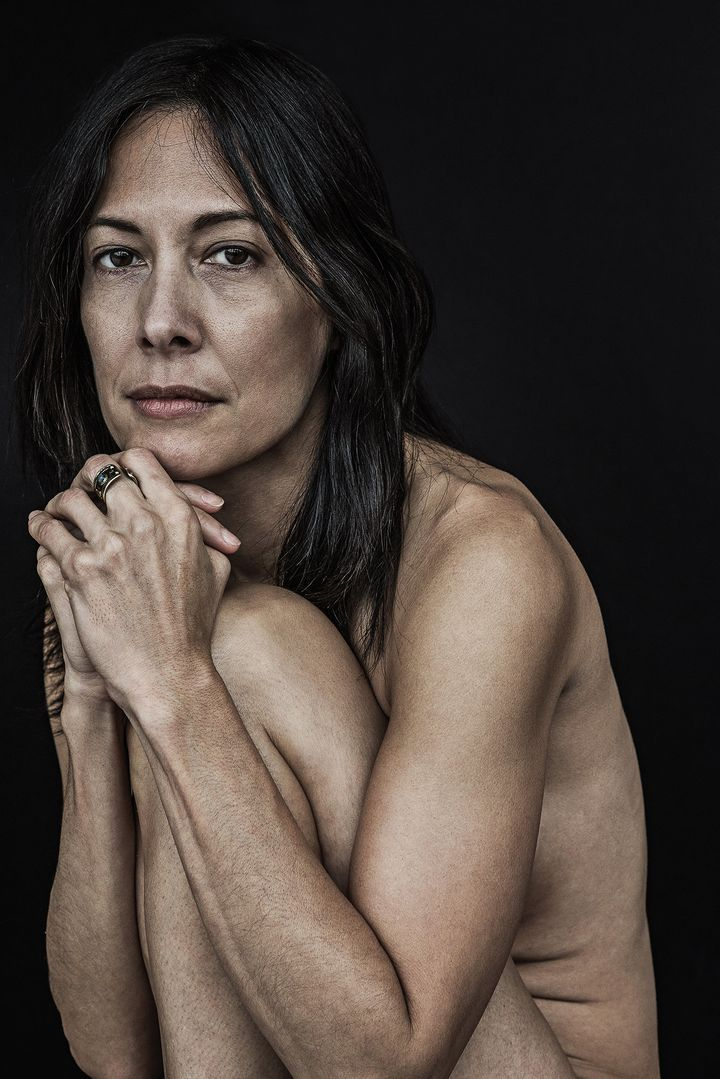 """Victoria, age 50: """"Beauty, to me, is seeing the organic natural process of the effects of time and experiences, whether it be"""