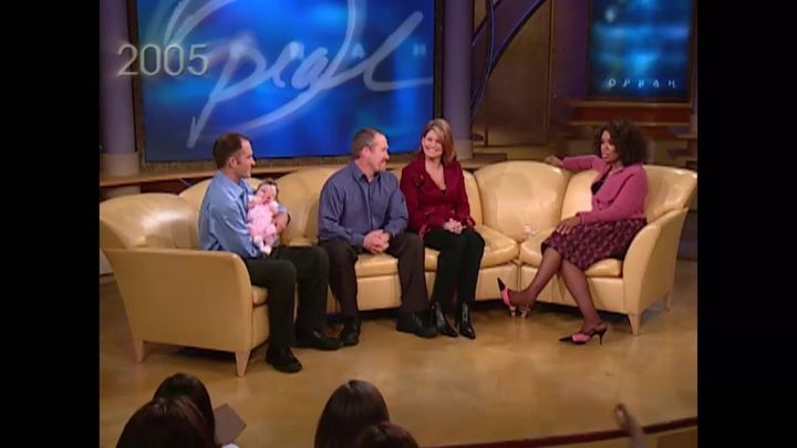 """Andy, Bart and Brenda appeared on """"The Oprah Winfrey Show"""" in 2005 and introduced the newest member of their family: 8-week-o"""