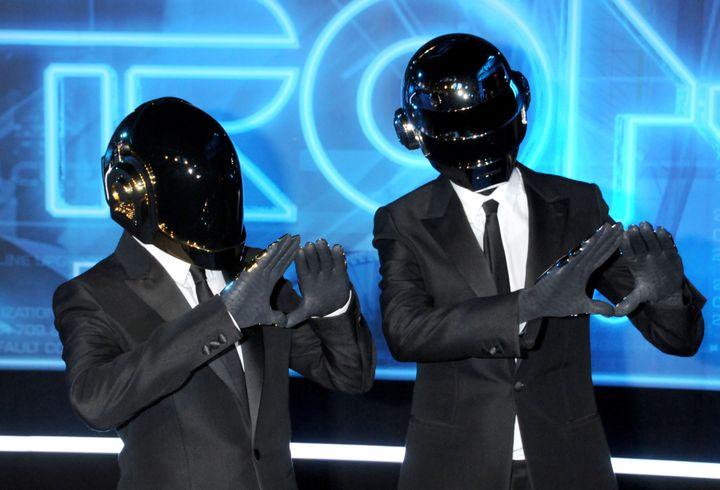 We still have some time before menstartdressing like Daft Punk.