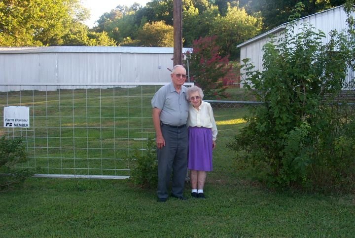 The couple on their 55th wedding anniversary in 2005.