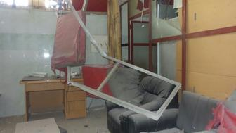 MSF-supported hospital after airstrikes in south Syria.