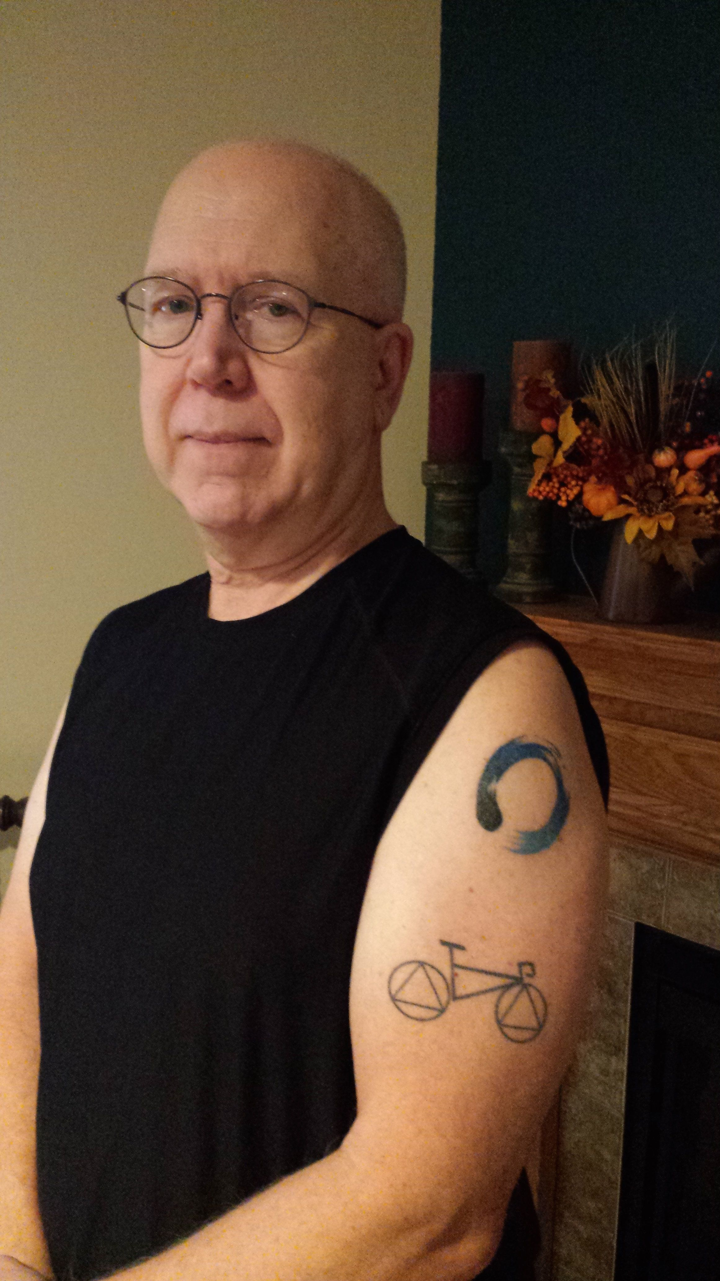 "<i>""My wife and I started dating at age 60 and she said she would like to get a tattoo, but was afraid to go through wi"