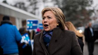 MANCHESTER, NH - On primary day in New Hampshire, former Secretary of State Hillary Clinton stops at polling places in Manchester, New Hampshire on Tuesday morning February 9, 2016. (Photo by Melina Mara/The Washington Post via Getty Images)