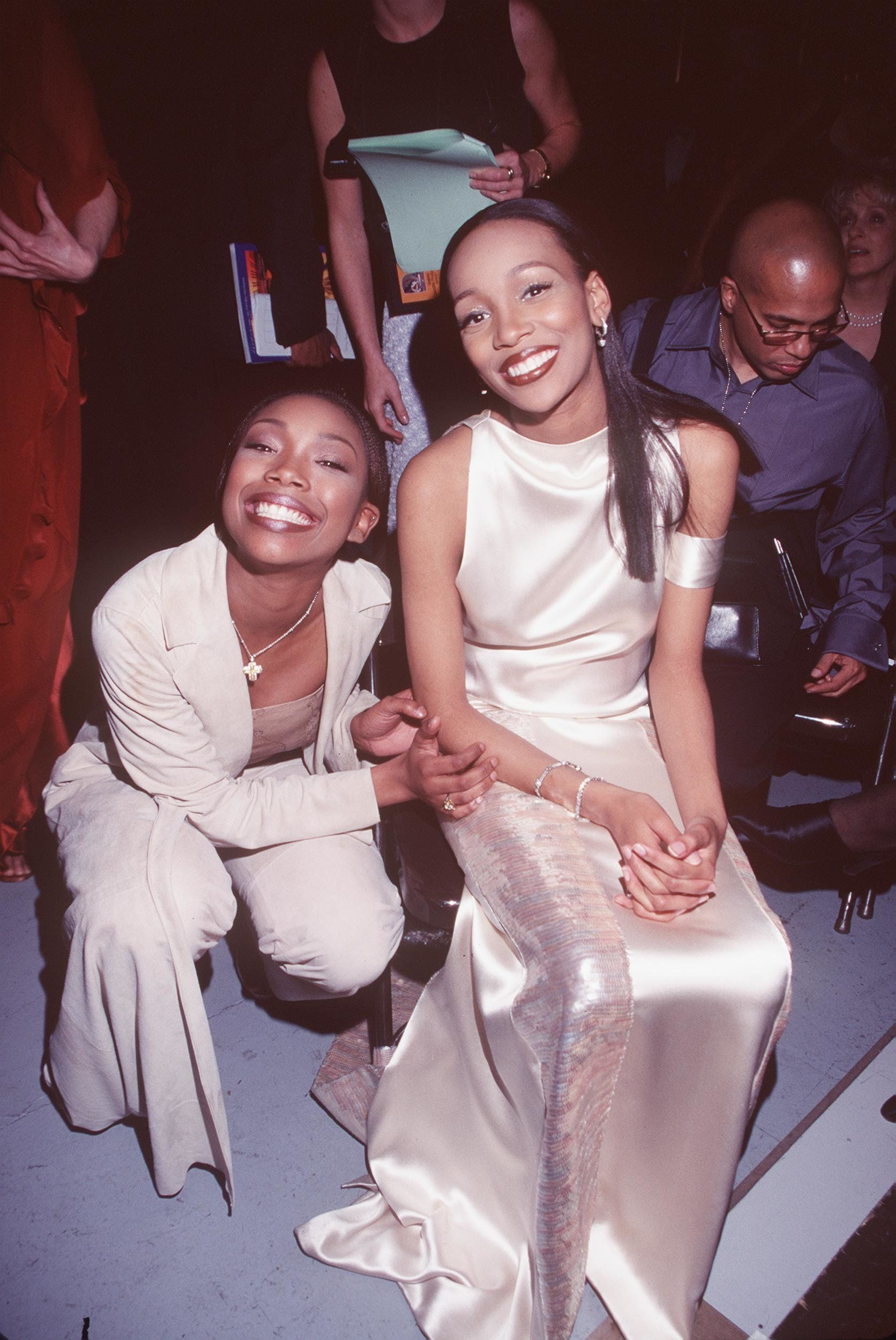 2/24/99 Los Angeles, Ca. Brandy And Monica Were All Smiles At The 41St Annual Grammy Awards. (Photo By Ron Wolfson/Getty Images)