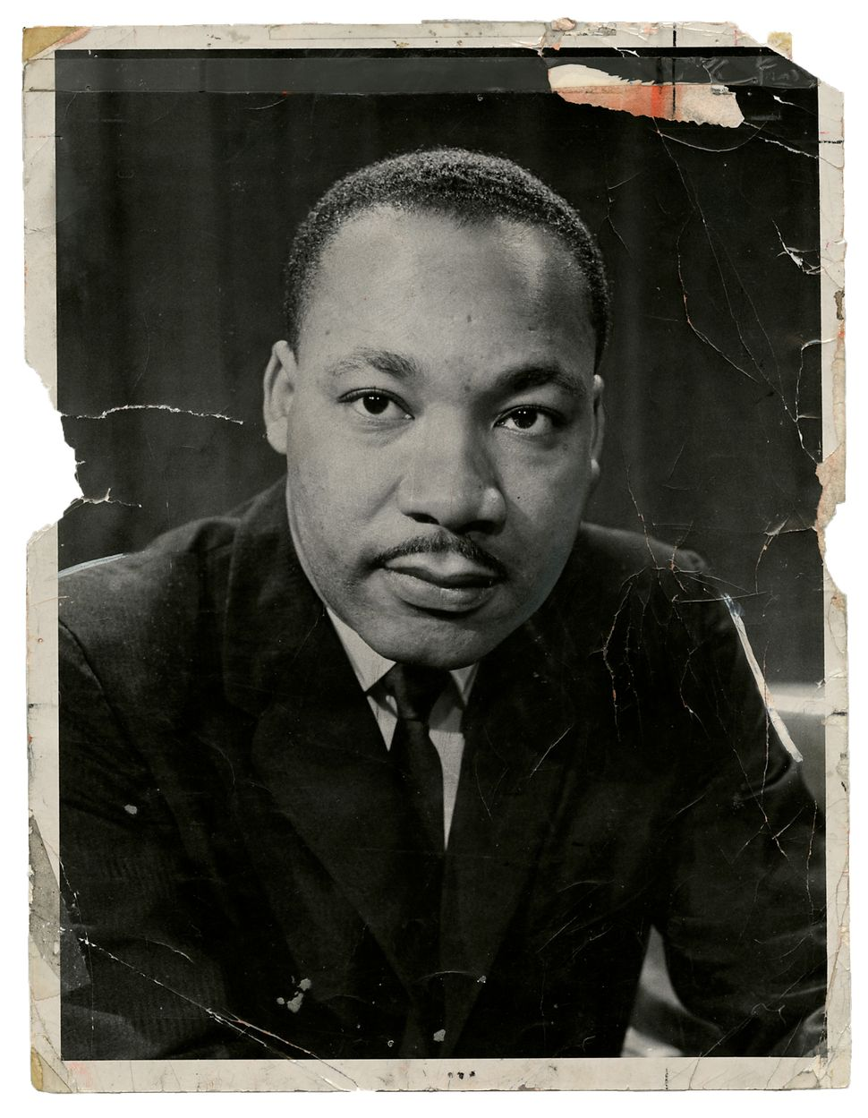 1963: An iconic portrait of the Rev. Dr. Martin Luther King Jr. was more or less shot from the hip. Allyn Baum snapped this p