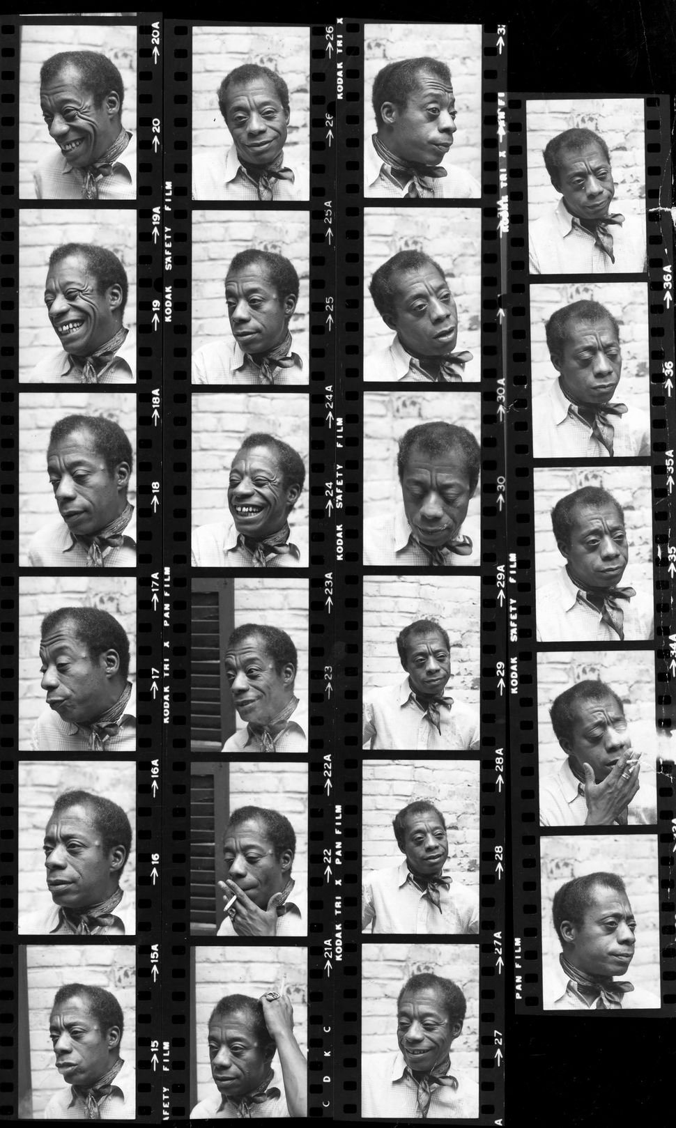 1972: James Baldwin posed for photographs in an apartment on the Upper West Side of Manhattan. Frame 19 was the image that ed