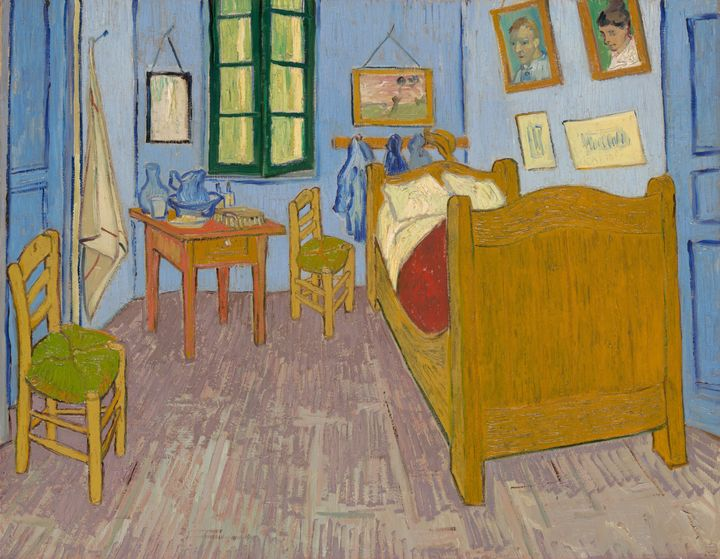 A painting of Van Gogh's bedroom found in the collection ofthe Musée d'Orsay in Paris.