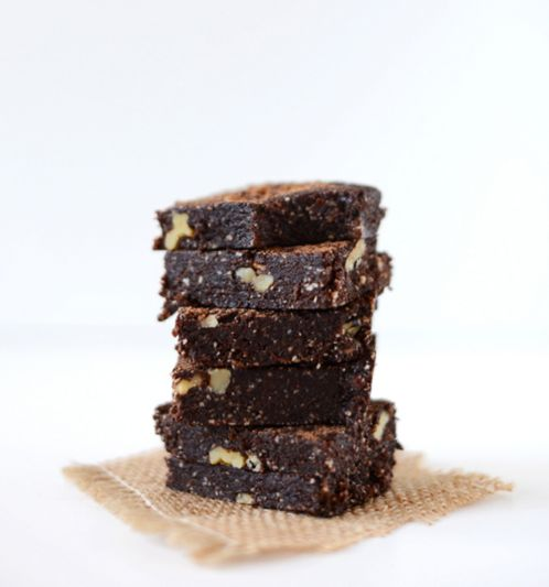 "Sweetened with dates. <br><strong><br>Get the <a href=""http://minimalistbaker.com/5-minute-espresso-walnut-brownies/"" ta"