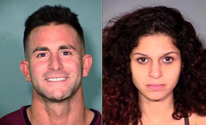 Phillip Frank Panzica III, 27, and Chloe Scordianos, 21, were arrested Friday after allegedly having sex on a Las Vegas Ferri