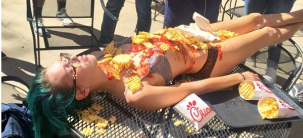 College Student Wants People To Eat Chik-Fil-A And Ketchup Off Her Body