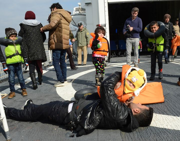 Refugees rescued by the Turkish Coast Guard on Feb. 9, 2016. Experts say efforts to deter migrants just pushes them