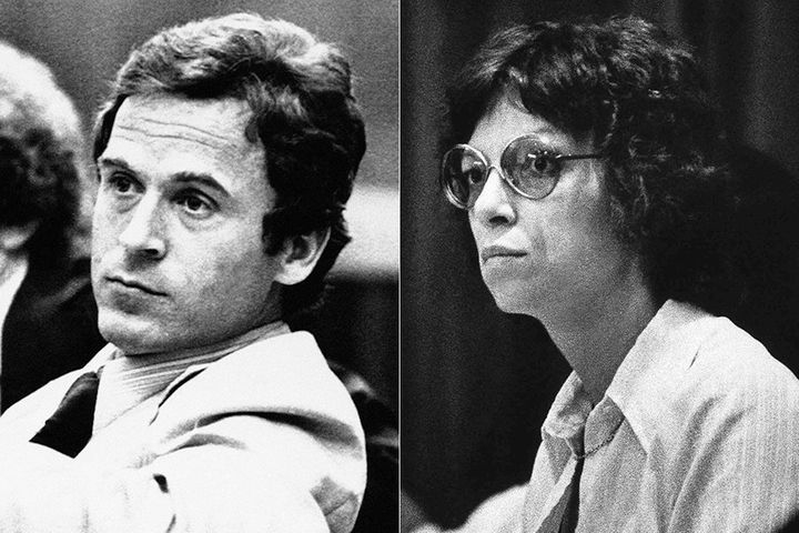 Ted Bundy and Carole Ann Boone during his 1979 trial.
