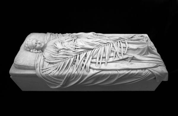 Tomb Effigy of Elizabeth Boott Duveneck Frank Duveneck (American, 1848-919) 1894 Marble. Gift of Frank Duveneck