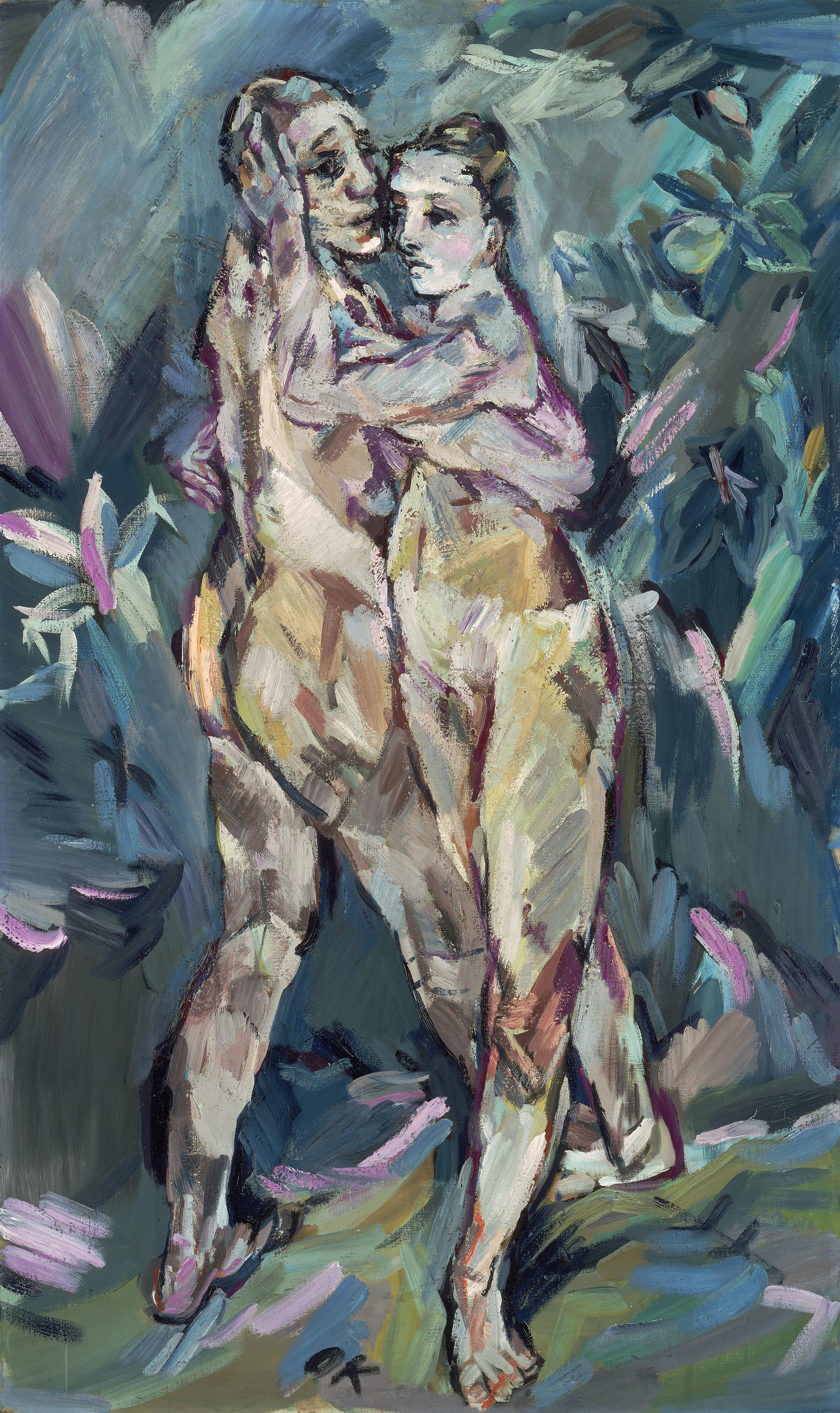 Two Nudes (Lovers) Oskar Kokoschka (Austrian, 1886–1980) 1913 Oil on canvas. Bequest of Sarah Reed Platt c. 2015 Fondation Oskar Kokoschka / Artists Rights Society (ARS), New York / ProLitteris, Zürich