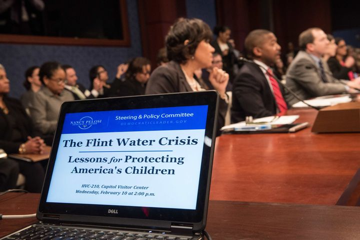 Politicians and advocates came together at a House Democratic Steering and Policy Committee hearing on the Flint, Michigan, w