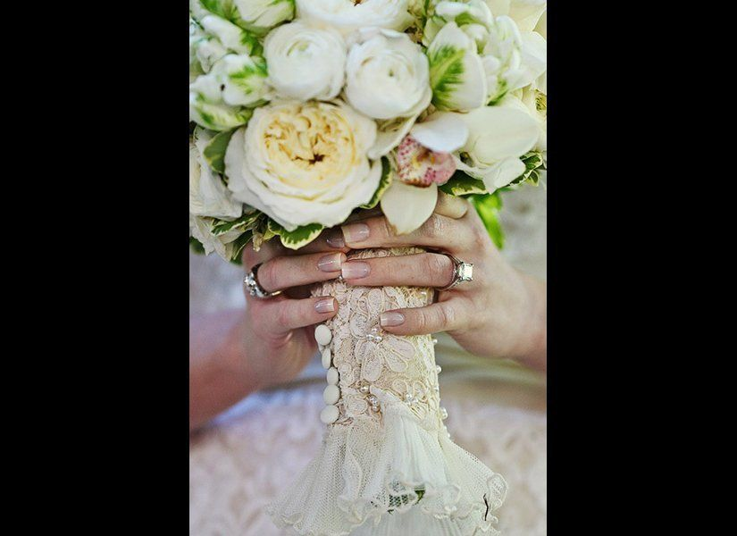 Did your mom preserve her wedding dress? If there's no chance that you or a sibling would ever wear it, ask if you can add a