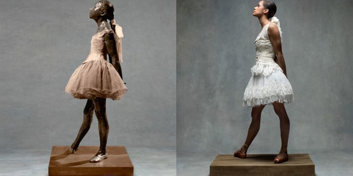 "Copeland as Degas's ""Little Dancer Aged Fourteen"" in a Alexander McQueen dress."