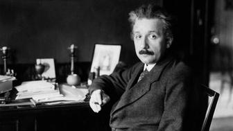 (GERMANY OUT) Einstein, Albert - Physicist, Germany/USA *14.03.1879-18.04.1955+ - at his desk - 01.01.1929 - Vintage property of ullstein bild  (Photo by ullstein bild/ullstein bild via Getty Images)