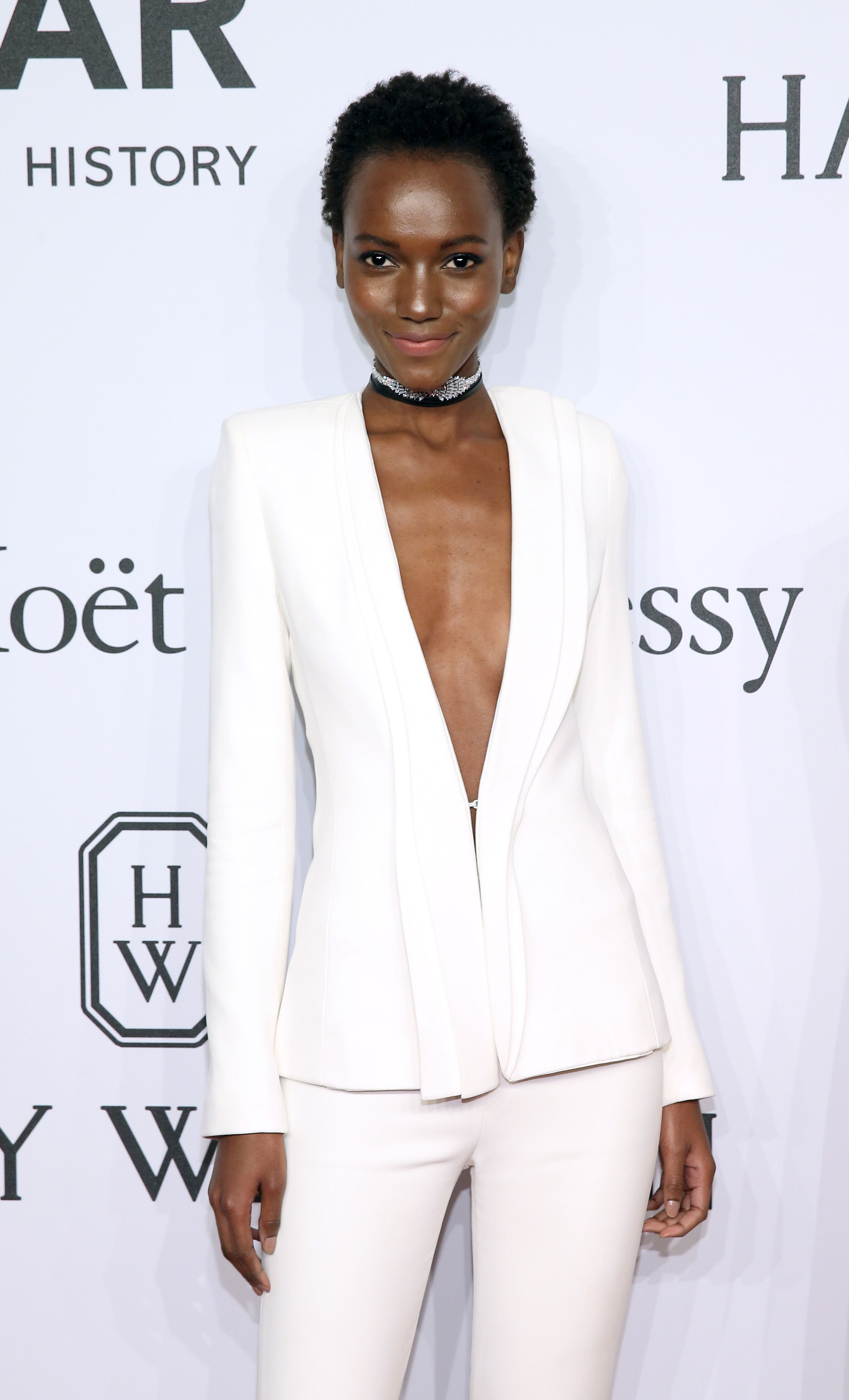 NEW YORK, NY - FEBRUARY 10:  Model Herieth Paul attends the 2016 amfAR New York Gala at Cipriani Wall Street on February 10, 2016 in New York City.  (Photo by Neilson Barnard/WireImage)