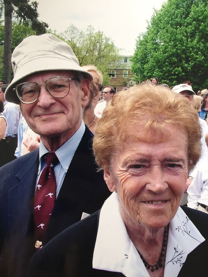 My grandparents at my sister's college graduation in 2004.