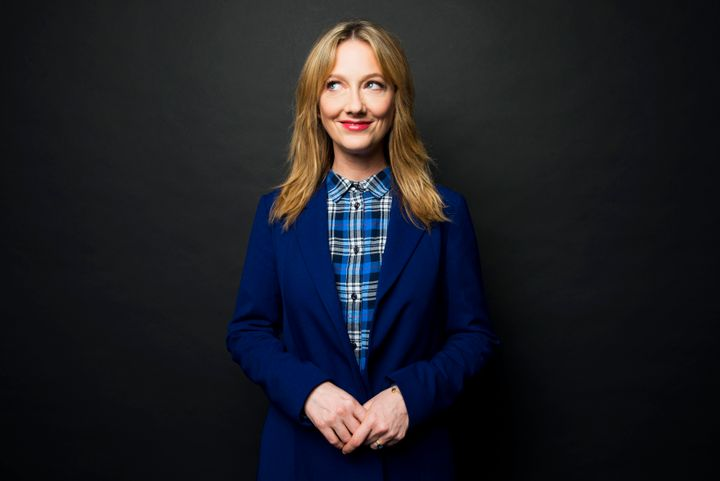 Actress Judy Greer poses for a portrait at Huffington Post headquarters in New York Wednesday Feb. 10, 2016. (Photo by Damon