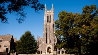 DURHAM, NC - OCTOBER 26: A general view of the Duke University Chapel on campus of Duke University on October 26, 2013 in Durham, North Carolina. (Photo by Lance King/Getty Images)