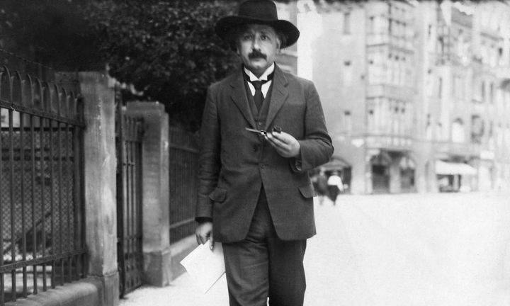 Albert Einstein, pictured walking in Berlin, Germany, in 1922 had an unquestionably brilliant mind, but he could be a&nb
