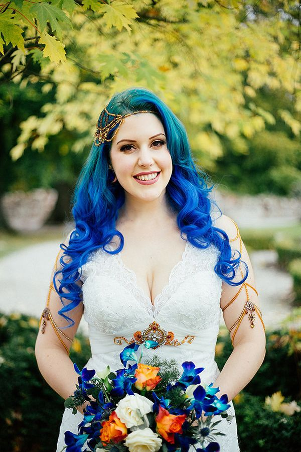 21 Rad Brides Who Rocked Their Colorful Hair Like A Boss