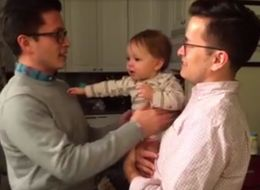 WATCH: Cute Baby Flips Out While Meeting His Dad's Identical Twin