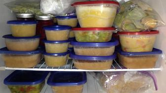 The second freezer is WELL stocked with soups and stews and apple sauce and home made ravioli for the winter!