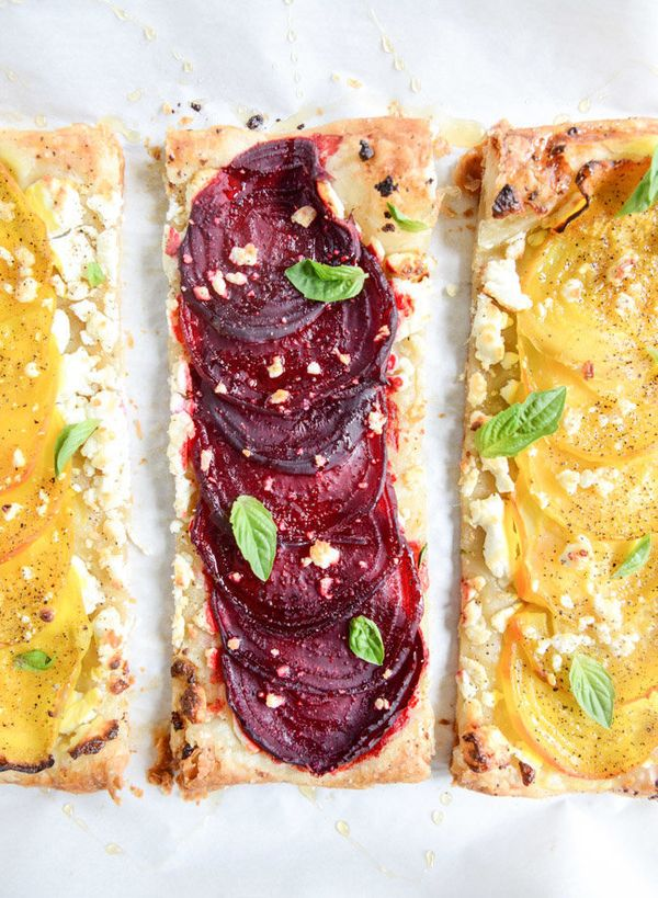 """<strong>Get the <a href=""""http://www.howsweeteats.com/2014/08/roasted-beet-goat-cheese-and-honey-drizzled-tarts/"""" target=""""_bla"""