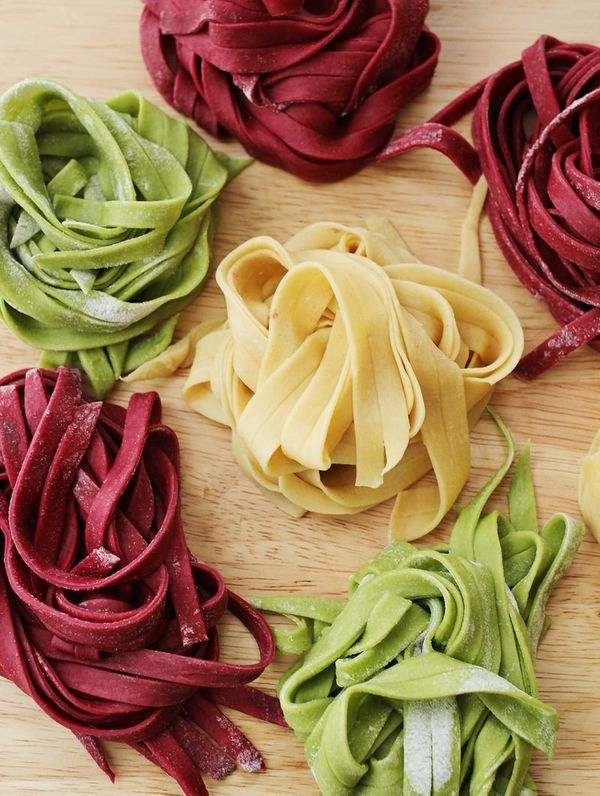 """<strong>Get the <a href=""""http://www.abeautifulmess.com/2013/02/adventures-in-pasta-making.html"""" target=""""_blank"""">Beet Pasta re"""