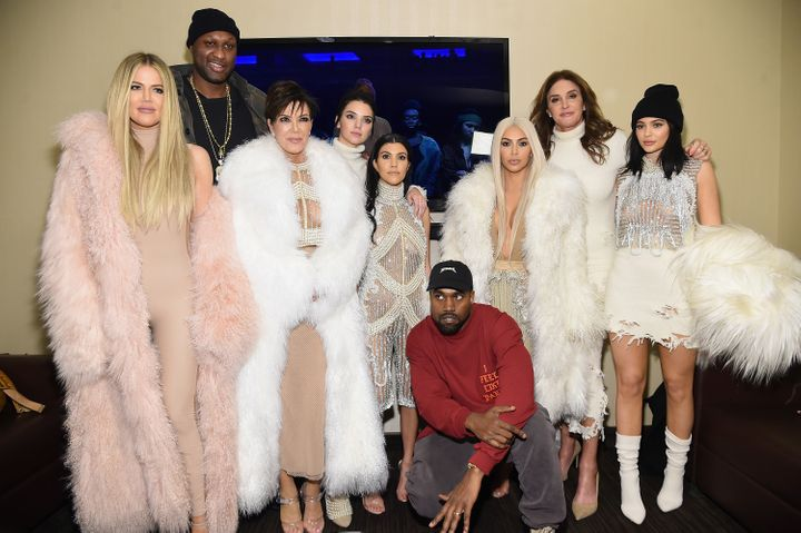 Yeezy with the entire Kardashian clan (sans Robert) and Lamar Odom.