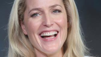PASADENA, CA - JANUARY 15:  Actress Gillian Anderson speaks onstage during 'The X-Files' panel discussion at the FOX portion of the 2015 Winter TCA Tour at the Langham Huntington Hotel on January 15, 2016 in Pasadena, California  (Photo by Frederick M. Brown/Getty Images)
