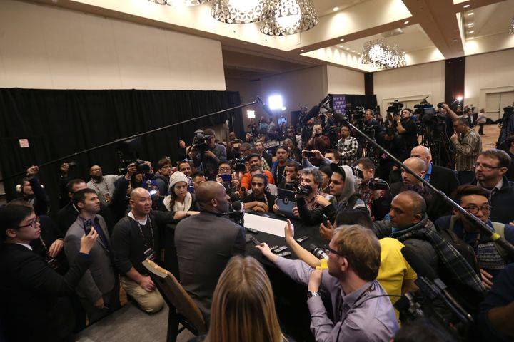 Kobe Bryant had -- by far -- the largest audience during the NBA All-Star Weekend media availability on Friday.