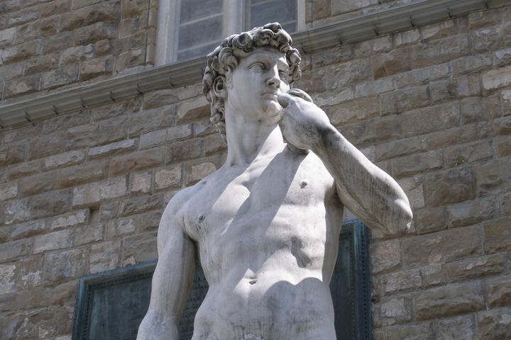 """""""Michelangelo was an essentialist; he would tell his story in massive, dynamic bodies."""""""