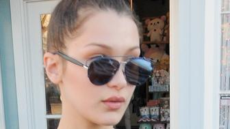 51964010 Model Bella Hadid was spotted out shopping in West Hollywood, California on February 5, 2016.  Bella recently modeled in the Spring/Summer 2016 denim campaign for Topshop. FameFlynet, Inc - Beverly Hills, CA, USA - +1 (310) 505-9876