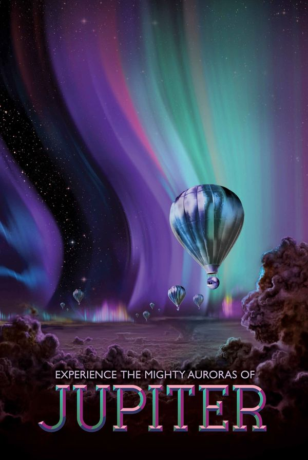 The Jovian cloudscape boasts the most spectacular light show in the solar system, with northern and southern lights to dazzle
