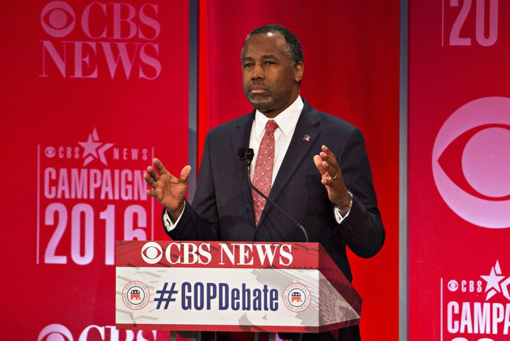 Ben Carson, retired neurosurgeon and 2016 GOP presidential candidate, used his closing statement in the CBS debate to pa