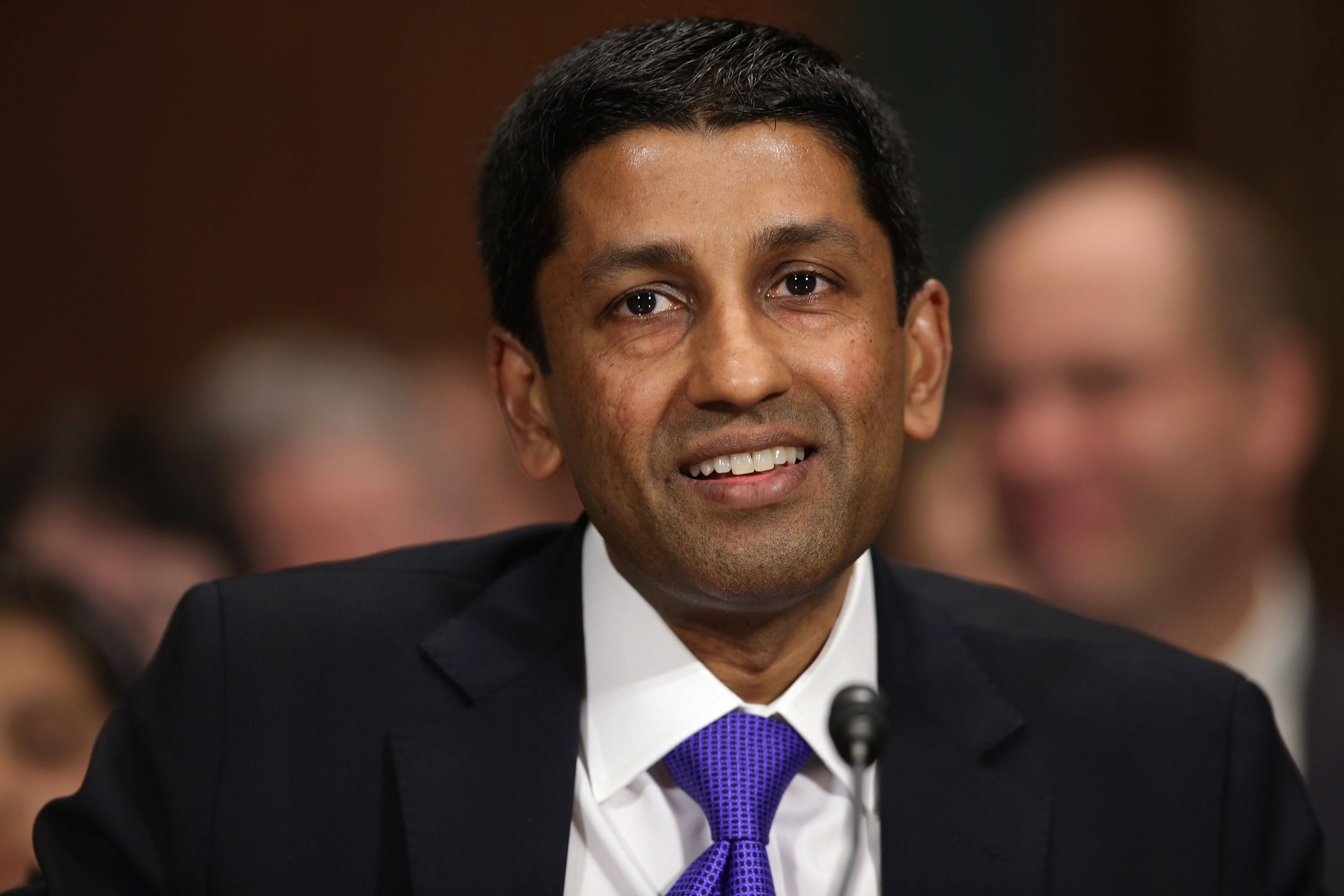WASHINGTON, DC - APRIL 10:  Principal Deputy Solicitor General of the United States Srikanth Srinivasan testifies before the Senate Judiciary Committee on Capitol Hill April 10, 2013 in Washington, DC. U.S. President Barack Obama has nominated Sirnivasan to be circuit judge for the United States Court of Appeals for the District of Columbia Circuit. A significant number of Supreme Court appointees were previously D.C. Circuit Court judges.  (Photo by Chip Somodevilla/Getty Images)
