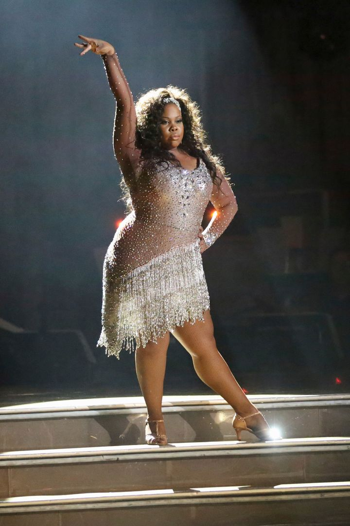 """Amber Riley performing on """"Dancing with the Stars."""""""