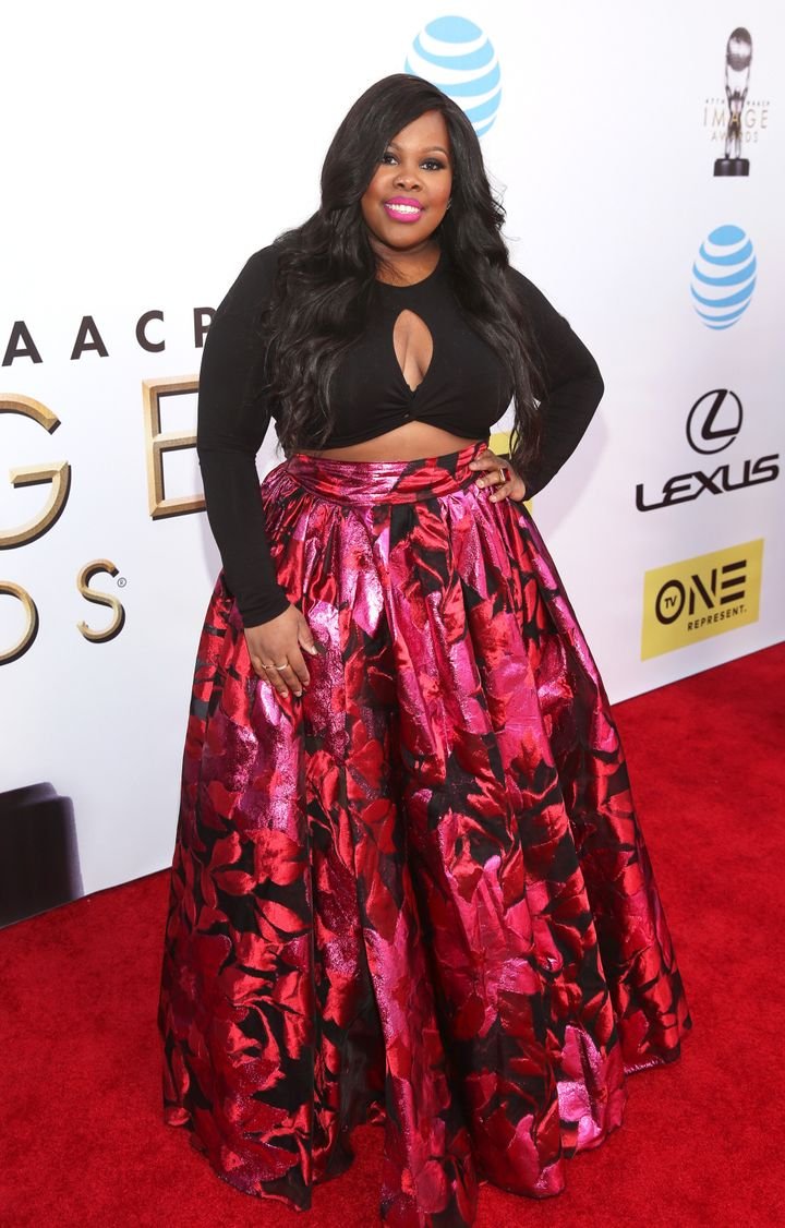 Amber Riley attends the 47th NAACP Image Awards.