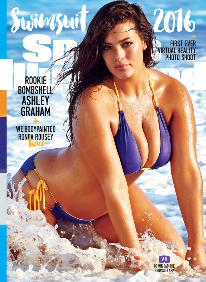 Plus-size model and body image activist Ashley Graham covers the 2016 Sports Illustrated Swimsuit Issue, on sale Monday.