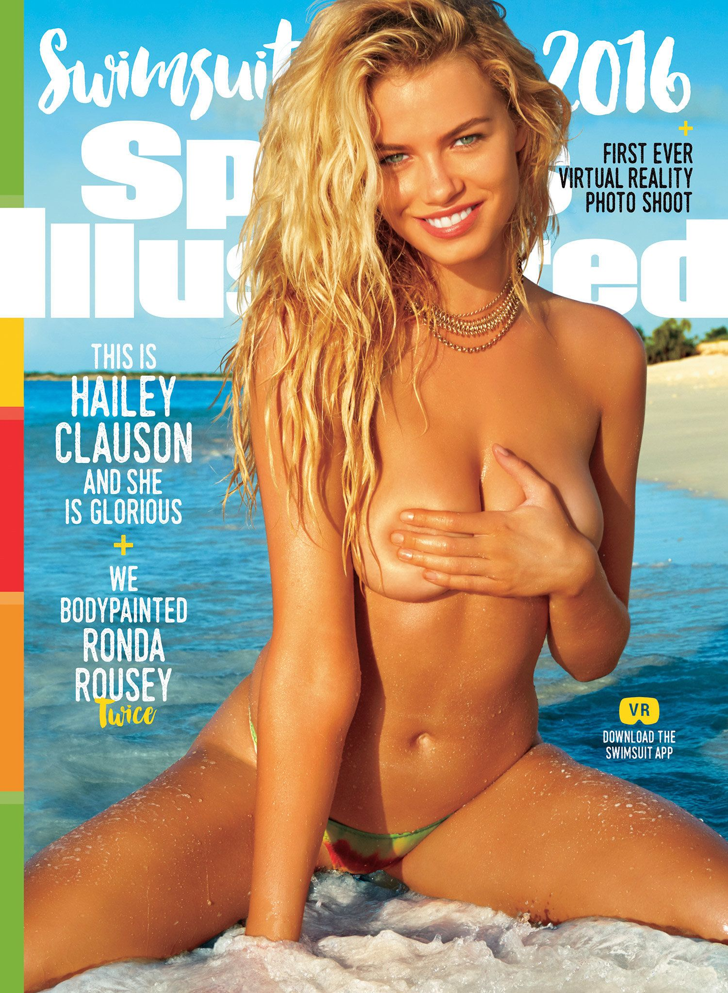 American model Hailey Clauson covers the 2016 Sports Illustrated Swimsuit Issue, on sale Monday.